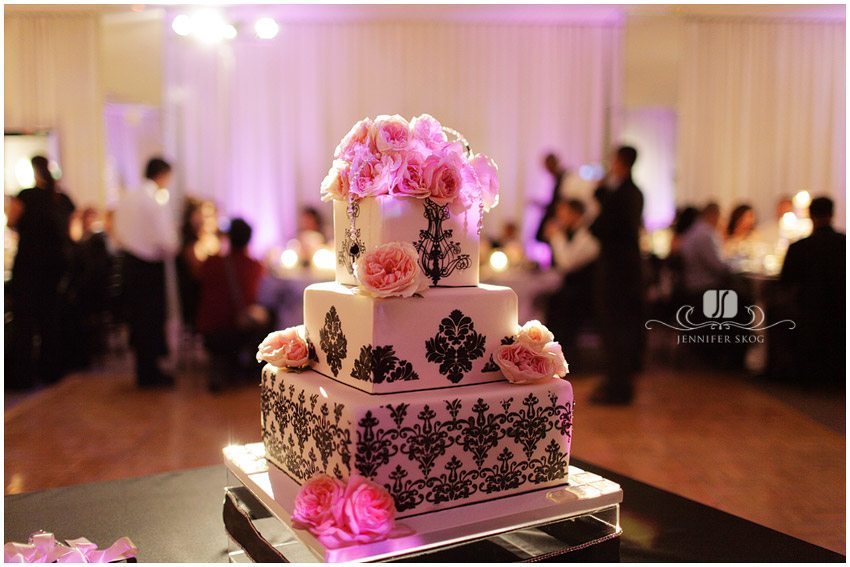 Cake of the Week Pink and Black Wedding Well I love black
