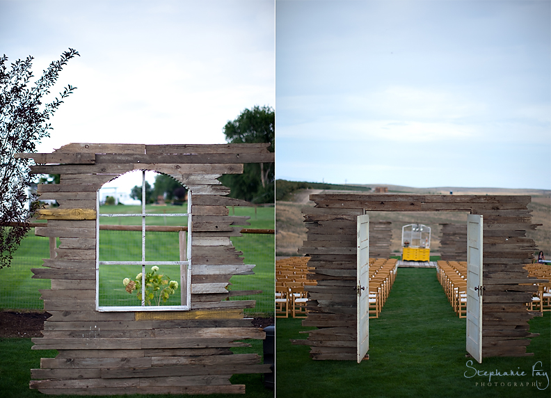 Create your own Wedding Ceremony Backdrop